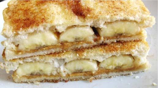 Banana and Sugar Sandwich